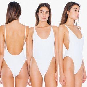 American Apparel nylon high cut tricot swimsuit